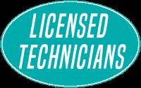 licensed technicians